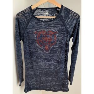 Touch • M • Bears Long Sleeve Layering Burnout Tee
